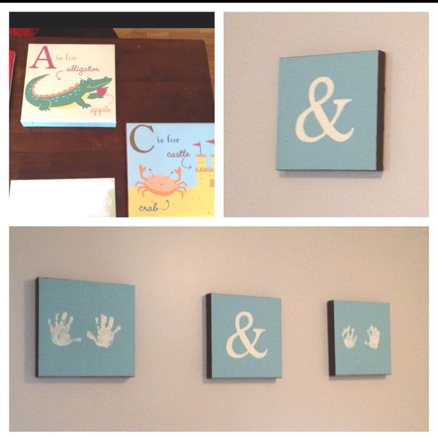 Before & After: I recycled our nursery wall art and made new art for the kids' play area! I love it!