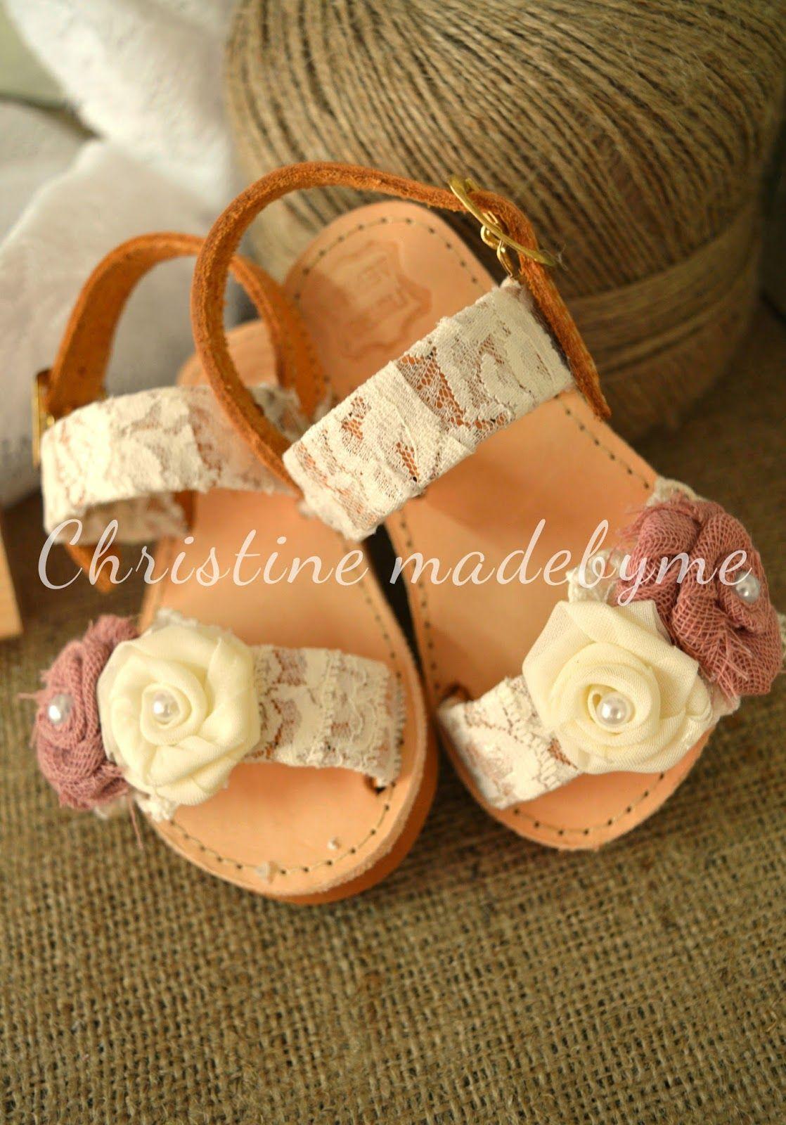 a20f39a154d Παιδικά βαπτιστικά σανδάλια   Σανδάλια   Cute girl shoes, Kids ...