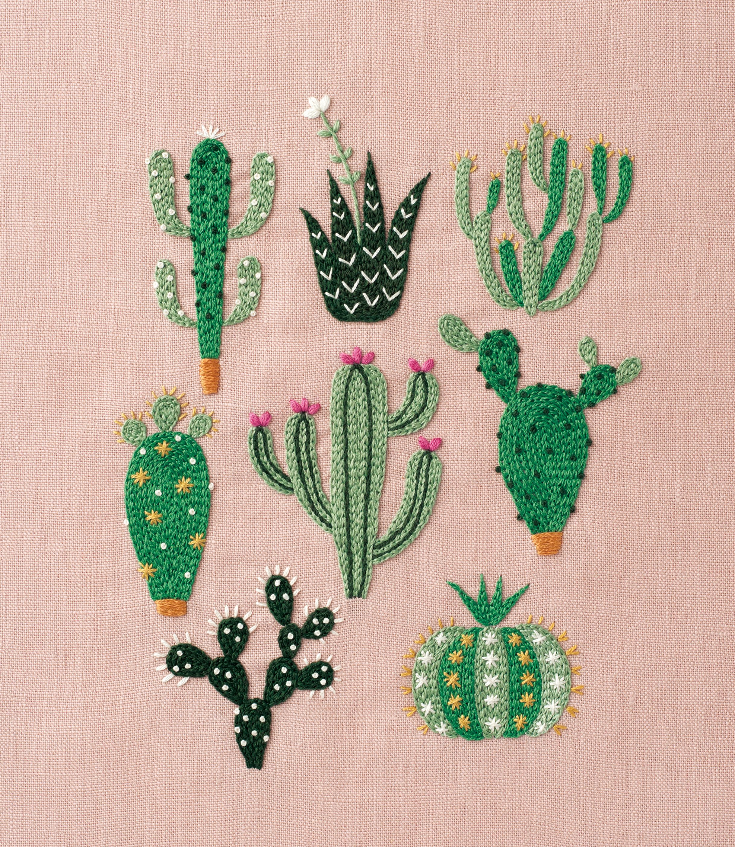 DIY Floral & Cactus Embroidery Projects From A Year Of