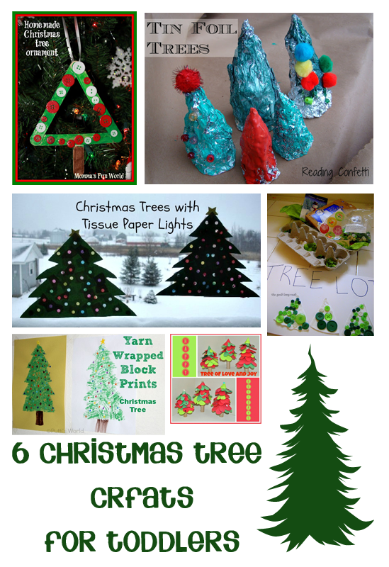 Christmas Tree Crafts Kindergarten : Christmas tree crafts for toddlers trees