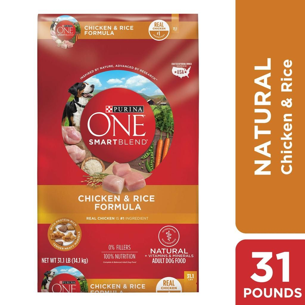 Purina ONE Natural Dry Dog Food, SmartBlend Chicken & Rice