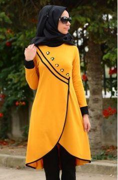 Sefamerve Tesettur Tunik 49019 05 Hardal Islami Giyim Ust Giyim Kadin Giyim