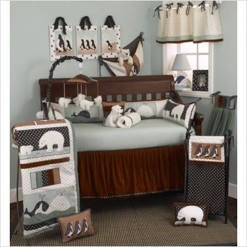 Penguin Polar Bear Baby Bedding Crib Sets