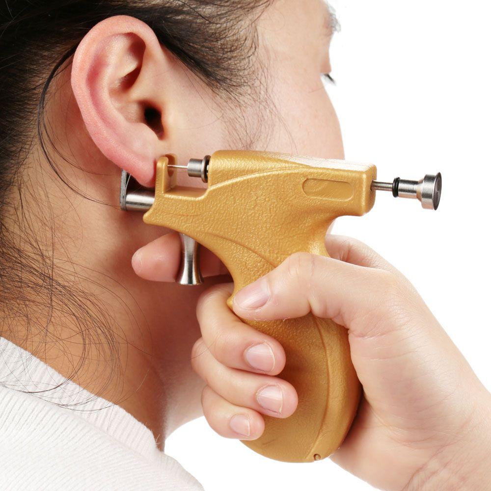 Aliexpress.com: Comprar Profesional oreja Piercing pistola de seguridad de acero inoxidable oído , nariz del cuerpo del ombligo Piercing pistola Toosl Kit Set para belleza de conjunto pendiente fiable proveedores en Y&M Fashion Co., Ltd.