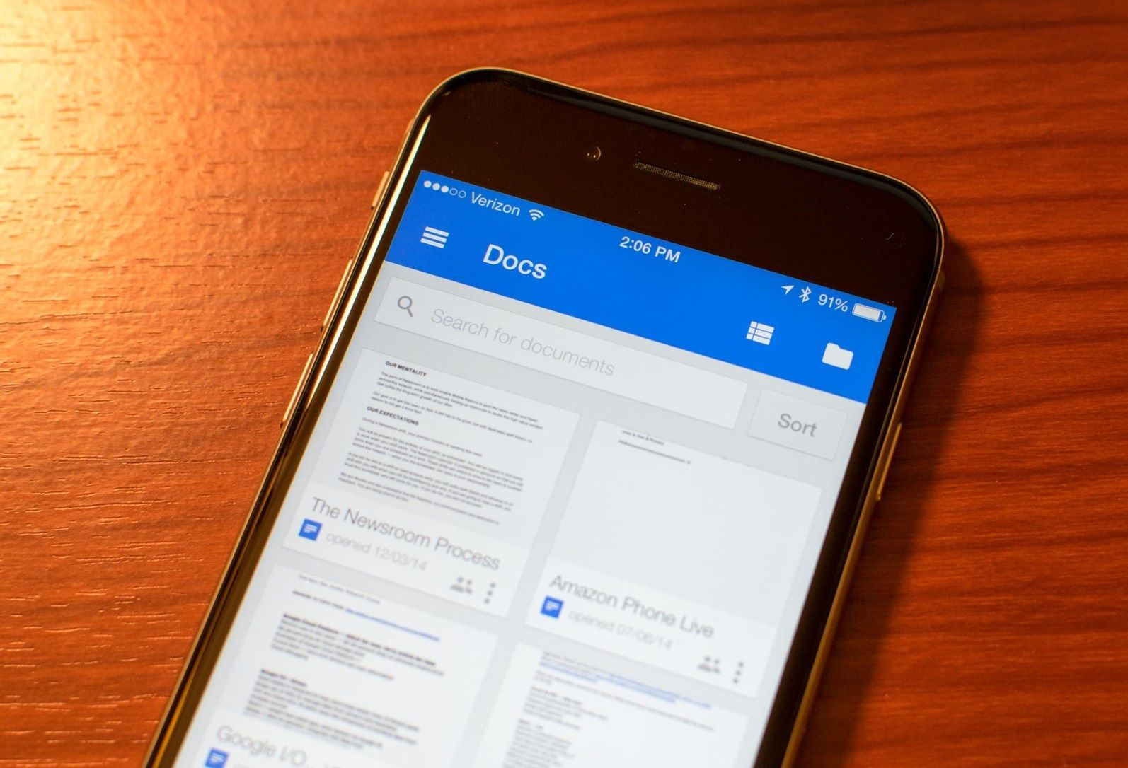 Both Google Docs and Google sheets apps got updated to iOS