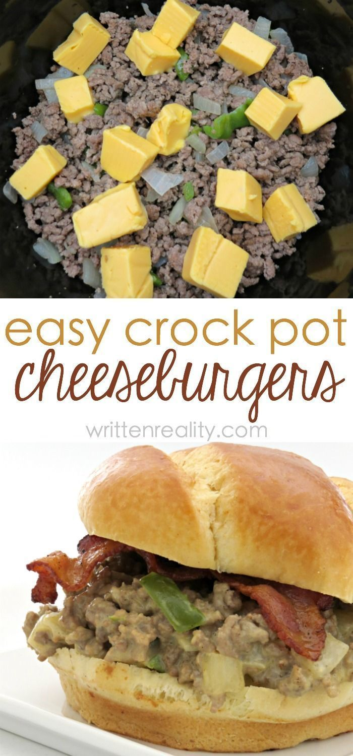 Crock Pot Cheeseburger Sandwiches : Ever tried a burger made in a pot? These slow cooker cheeseburger sandwiches are easy, cheesy, and loaded with flavor! We love these easy recipes.