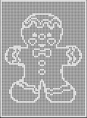 GINGERBREAD BOY CROCHET AFGHAN PATTERN | Filet häkeln und Gardinen ...
