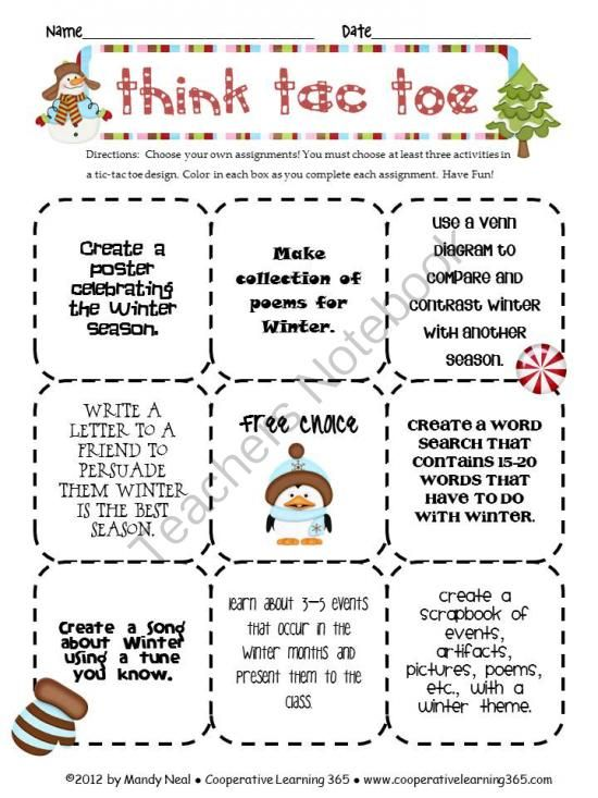 Think tac toe winter from teaching with simplicity on think tac toe winter from teaching with simplicity on teachersnotebook 2 pages think tac toe winter ccuart Image collections