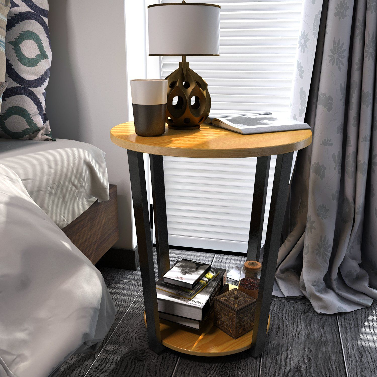 Lifewit Round Storage Side Table Deluxe Nightstand Couch End Table