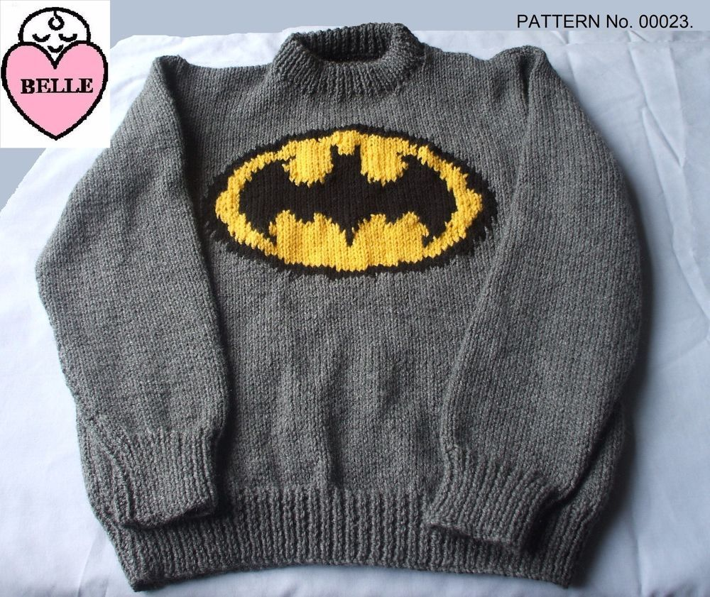 KNITTED IN DK YARN AND THE PATTERN IS FOR 6 SIZES. SEE