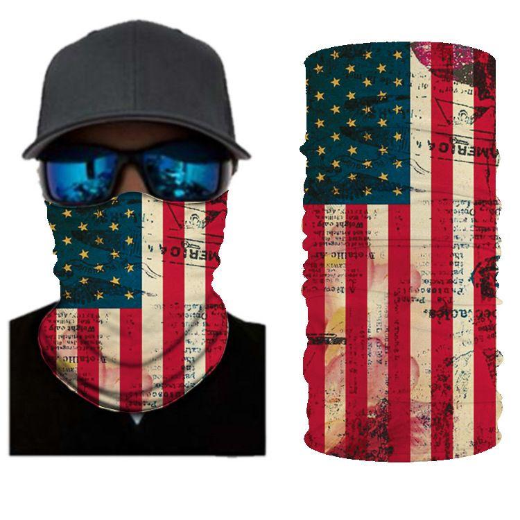 American Flag BANDANAS HEADBAND SHIELD UNISEX NECK GAITER FOR OUTDOOR SPORTS