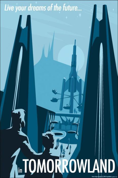 Available in 3 Sizes Vintage Tomorrowland Disneyland Poster