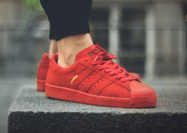 superstar irisé femme superstar rouge daim