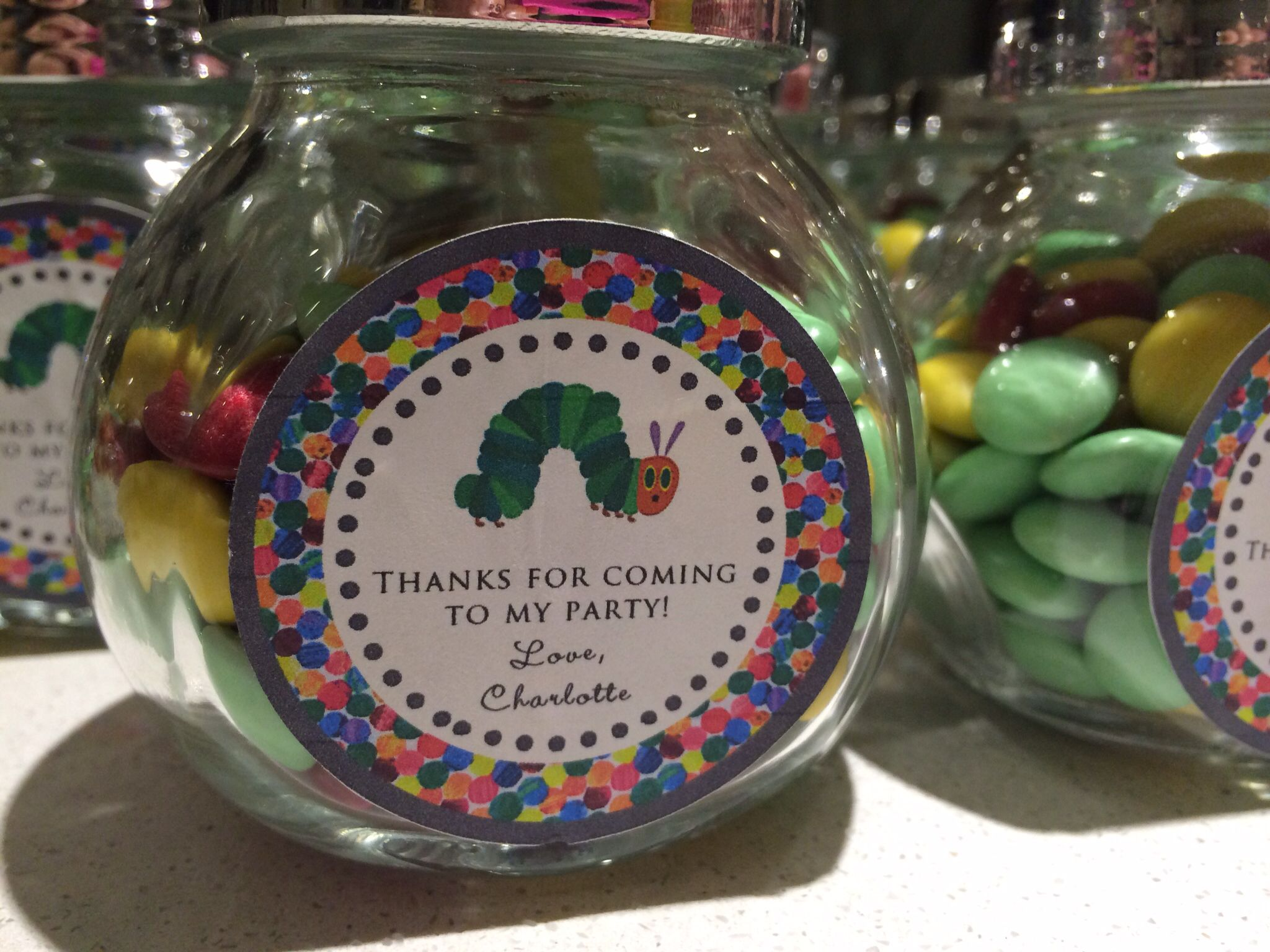 Lolly jars as favours