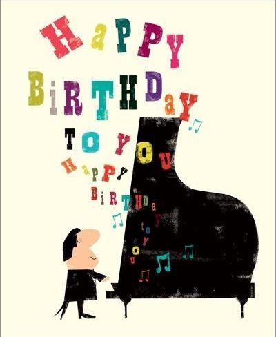 Happy Birthday Piano Birthday Pinterest Birthday Happy