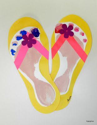 048d7c7ee Flip-flop footprint craft from Tippytoe crafts