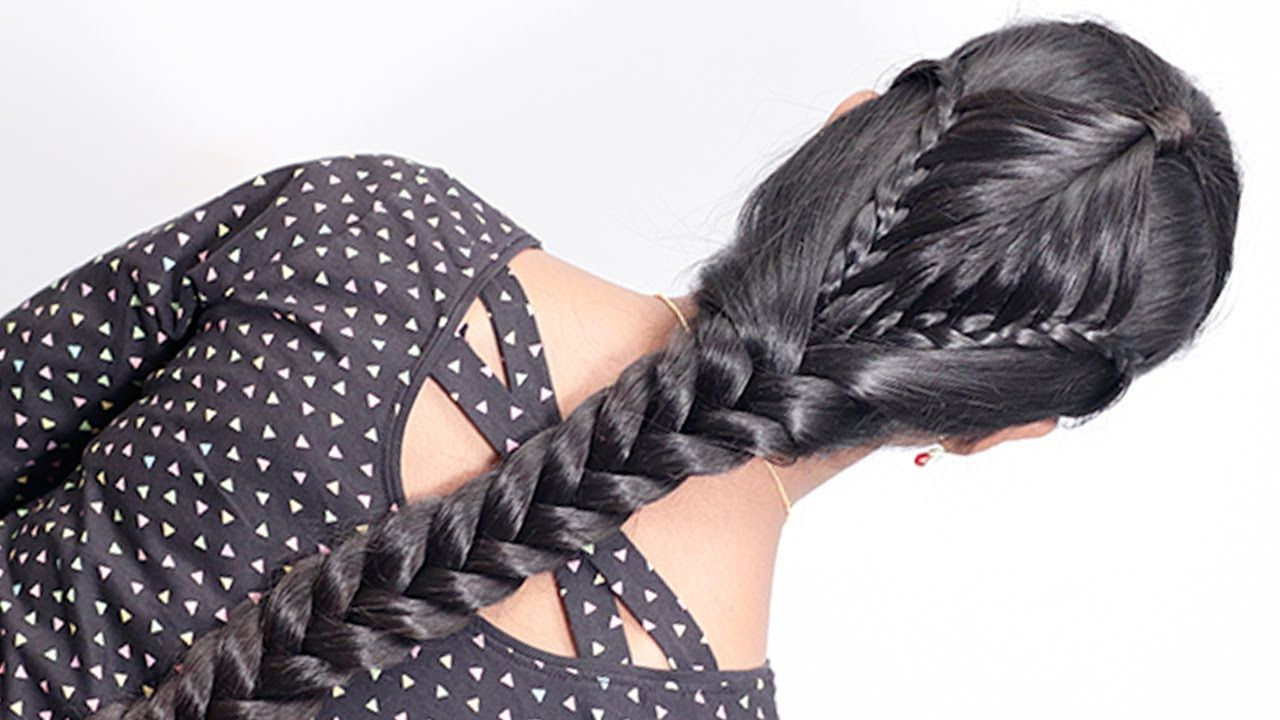 Easy Special Hairstyle For Girls On Diwali Festival Hairstyle For Gir Diy Hairstyles Girl Hairstyles New Hair Look