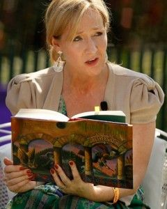 J.K. Rowling reading an exerpt from her first Harry Potter book