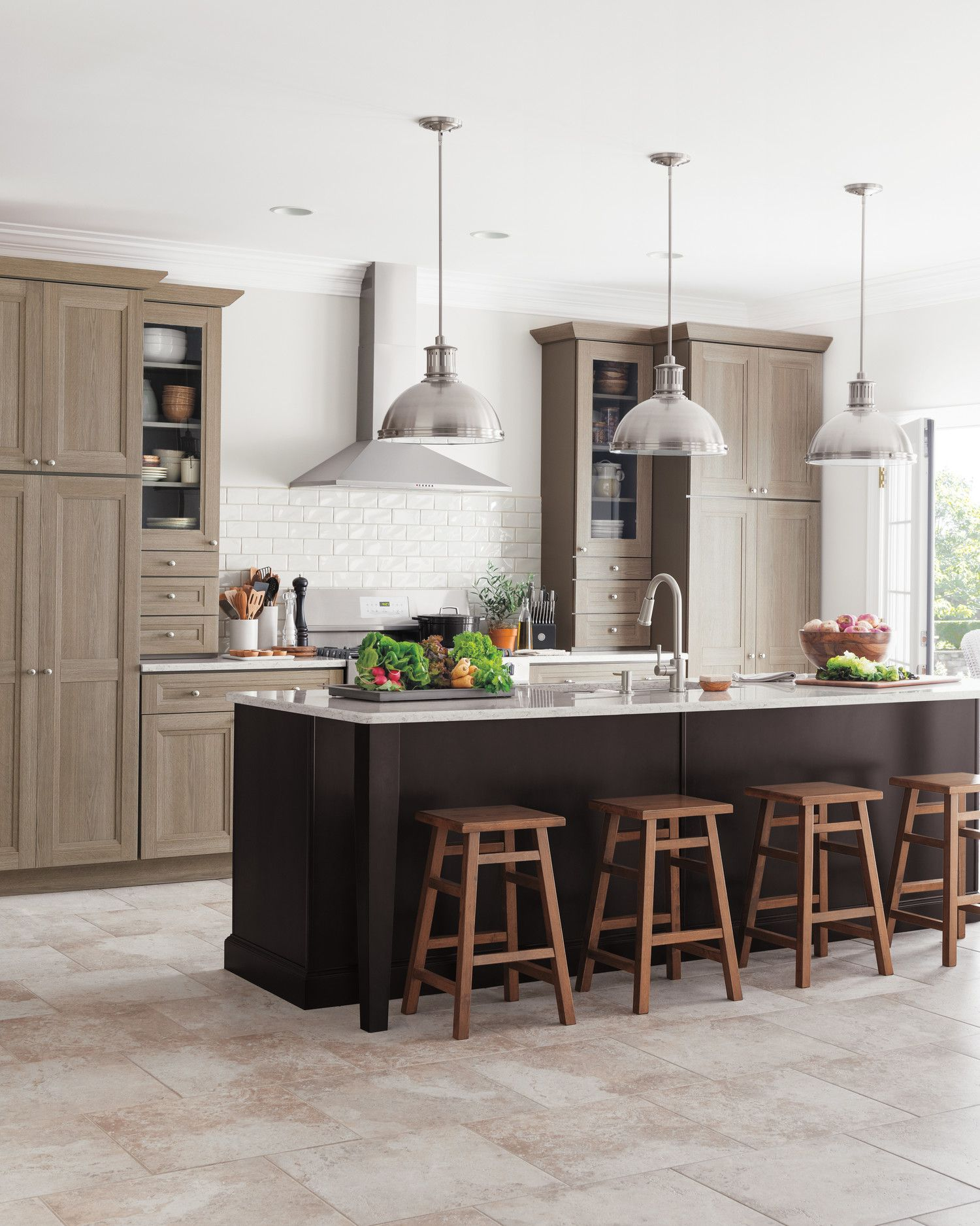 Shaker interior door styles living kitchen designs from the home depot  neutral kitchen shaker