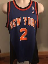 3aaf26860 Vtg Rare Mint Larry Johnson Ny Knicks Champion NBA Jersey 40 M Ewing Nike  Sonics