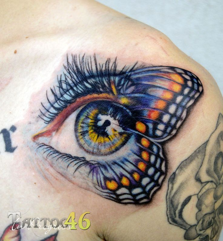 Butterfly Eyes Eye Tattoos And Tattoo Me On Pinterest Eye Tattoo Chest Piece Tattoos Butterfly Eyes