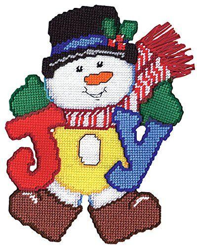 Joy Snowman Plastic Canvas Kit Design Works…