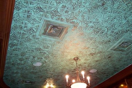 Pin By Sandy Miller On Home Faux Tin Ceiling Faux Tin Ceiling Tiles Metal Ceiling Tiles