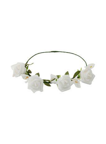 White flower garland headband 18 clothes pinterest flower white flower garland headband 18 mightylinksfo