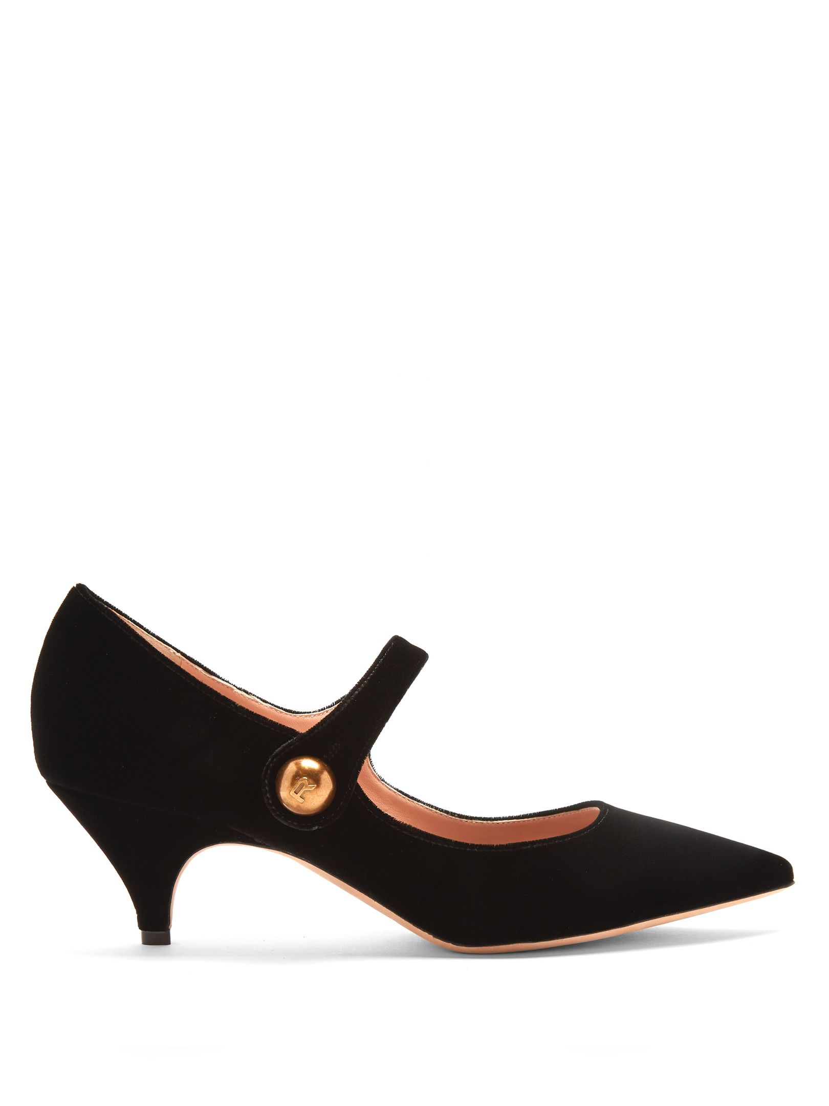 4cf8cd23d7 Point-toe Mary-Jane velvet pumps | Rochas | MATCHESFASHION.COM US ...