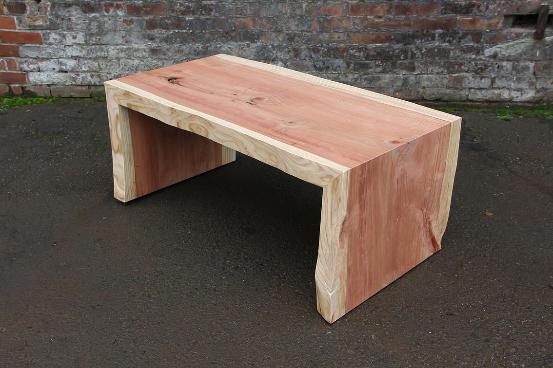 Cedar Natural Edge Waterfall Coffee Table Natural Pinterest  # Muebles Carlos Seixas