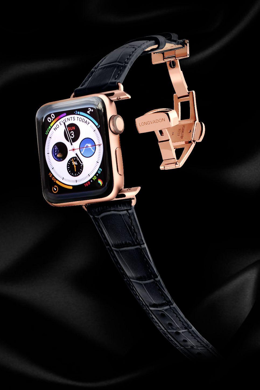Women's Midnight Black w/ Gold Details Apple watch bands