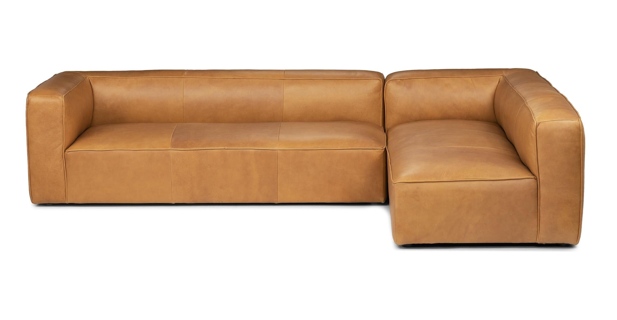 Mello Taos Tan Right Arm Corner Sectional Modern Leather
