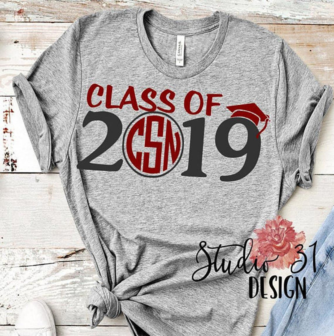 Senior shirt, class of 2019 shirt, Senior 2019 Shirt