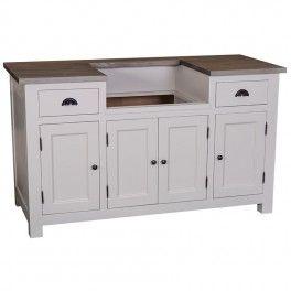 meuble sous vier 2 tiroirs 4 portes rocamadour en bois massif