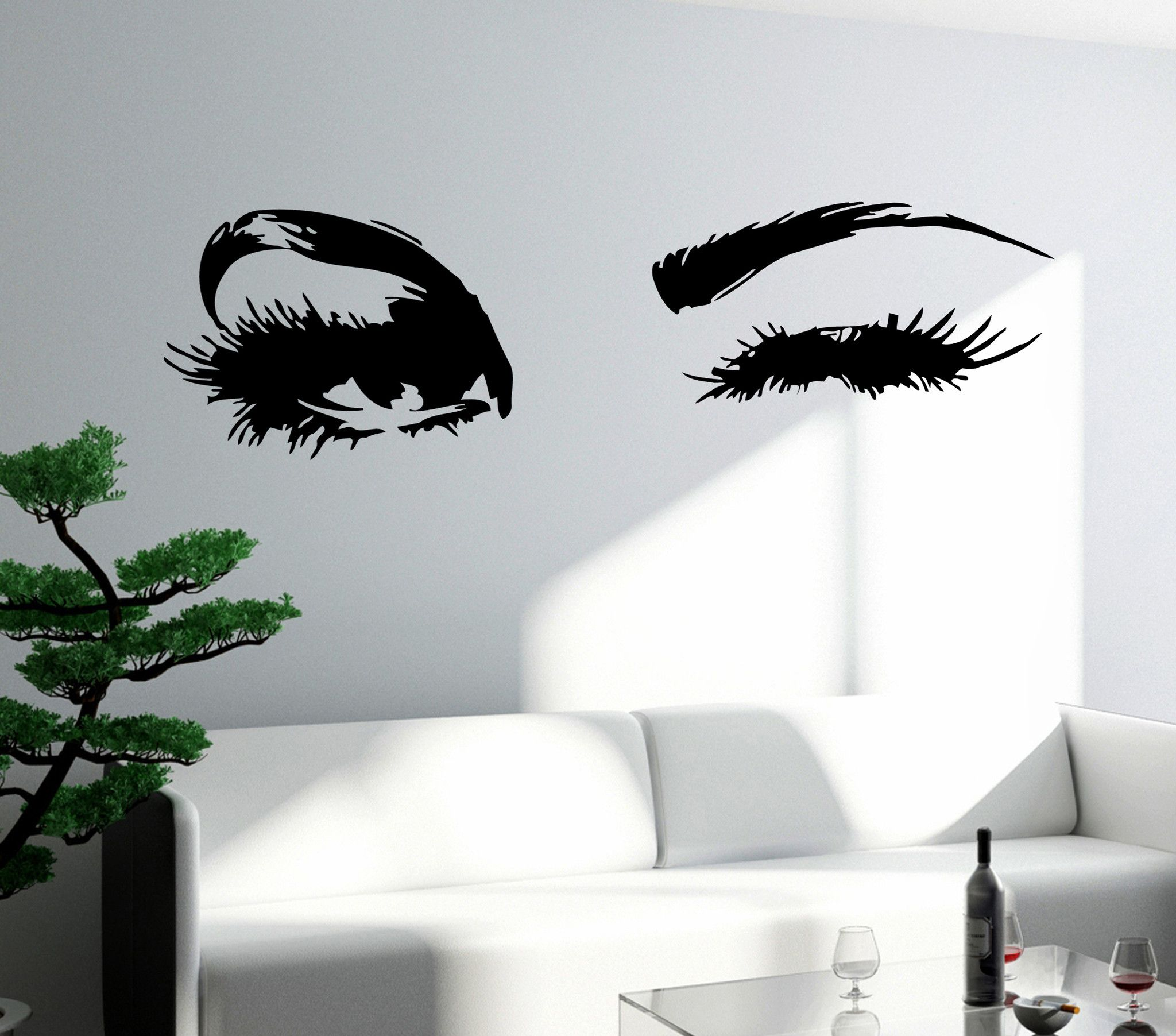 Wall Decal Eyes Sexy Girl Woman Vinyl Sticker z3260