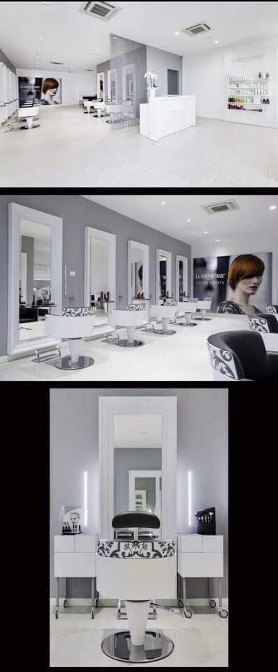 White Gray And Black Hair Salon Design Modern Decor Hair Salon Capolavoro    Mantova (Italy)   Salon Design By Mauro Cimarosti