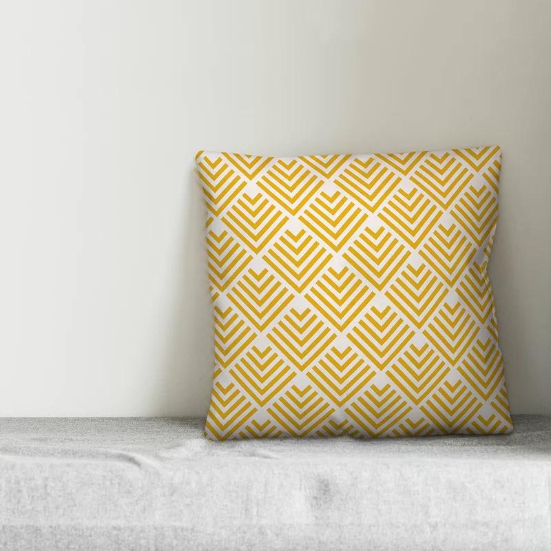 Eustaquio Geometric Arrow Throw Pillow Throw Pillows Yellow Throw Pillows Geometric Arrow