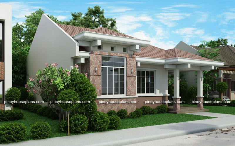 Php 2015022 Is A 3 Bedroom 2 Toilet And Bath Small Efficient House Plan With Porch And Also A Single Attached Porch House Plans Small House Images House Plans