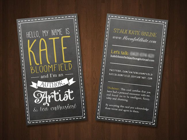 Author business card kate bloomfield business card ideas for author business card kate bloomfield business card ideas for writers pinterest business cards business and logos reheart Choice Image