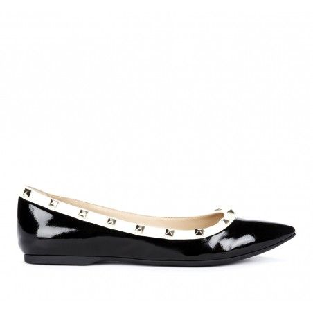 black and white with studs - love