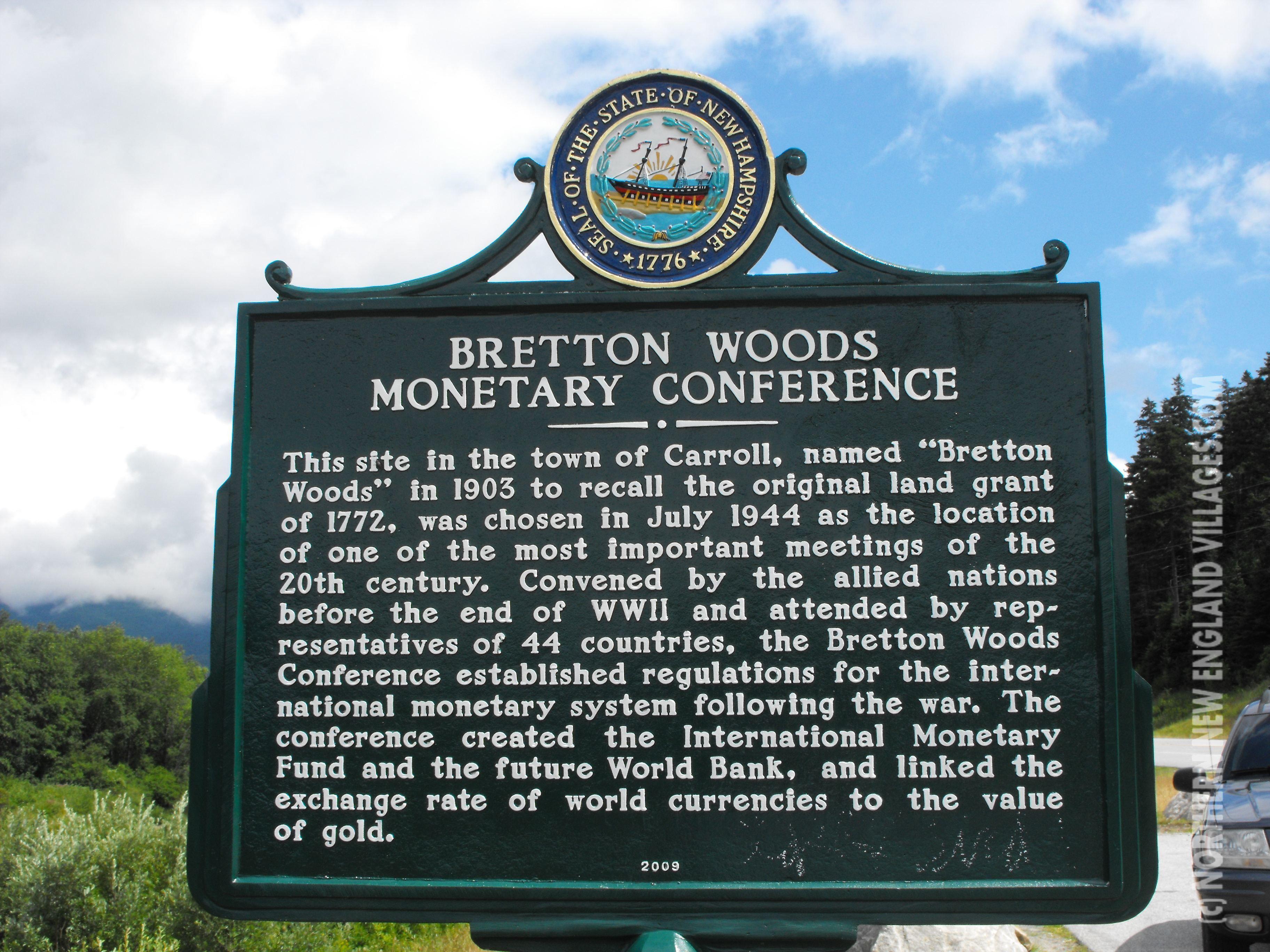 Nh road marker bretton woods monetary conference history nh road marker bretton woods monetary conference platinumwayz