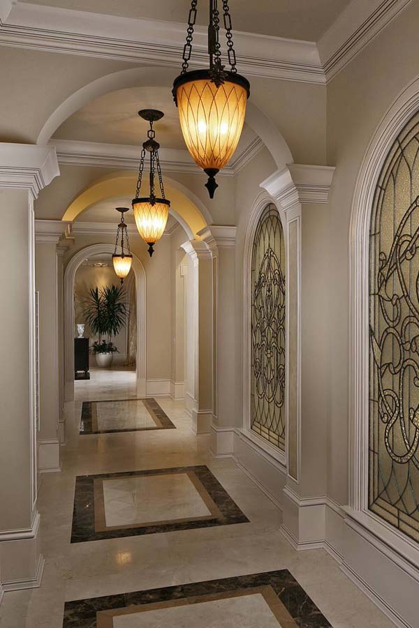 ديكور جبس الحوائط وتصاميم ديكورات الجبس والجبس بورد الفخمة ديكورات أرابيا Floor Design Hallway Designs Tuscan Design