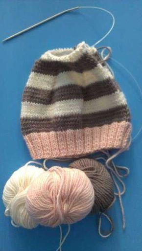 Photo of Children's hat made of remaining skein-free knitting instructions – of all kinds – allery … K …