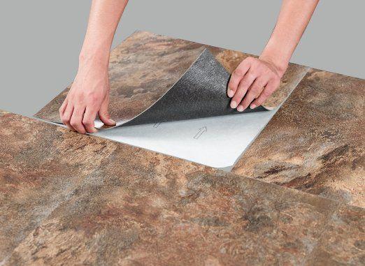 Achim Home Furnishings Mjvt180410 Majestic Vinyl Floor Tile 18 X Inches Rustic Copper Slate 10 Pack