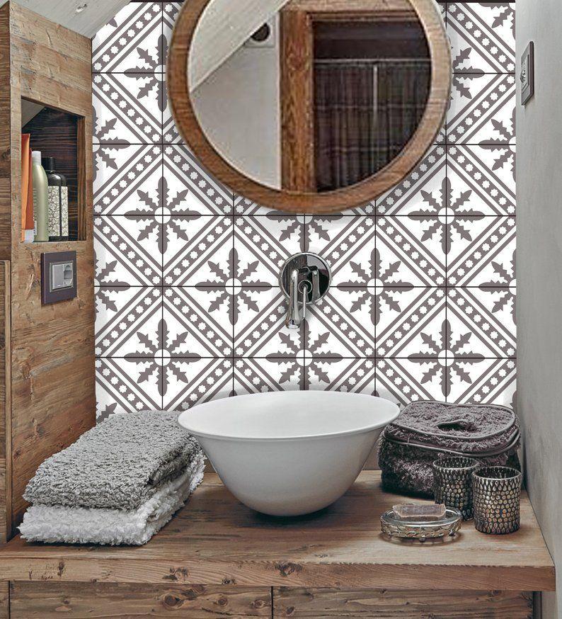 Tile Sticker Kitchen Bath Floor Wall Waterproof Removable Peel N Stick A69g Gray Tile Stickers Kitchen Wall Waterproofing Tiles