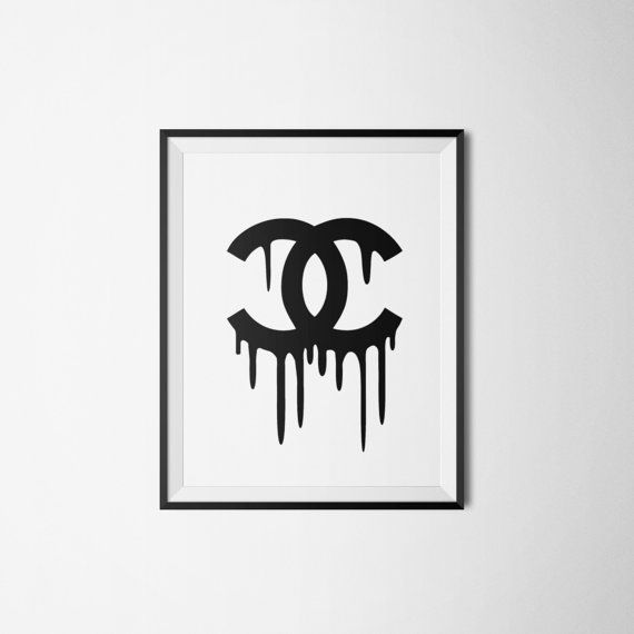 dripping chanel logo coco chanel print coco by
