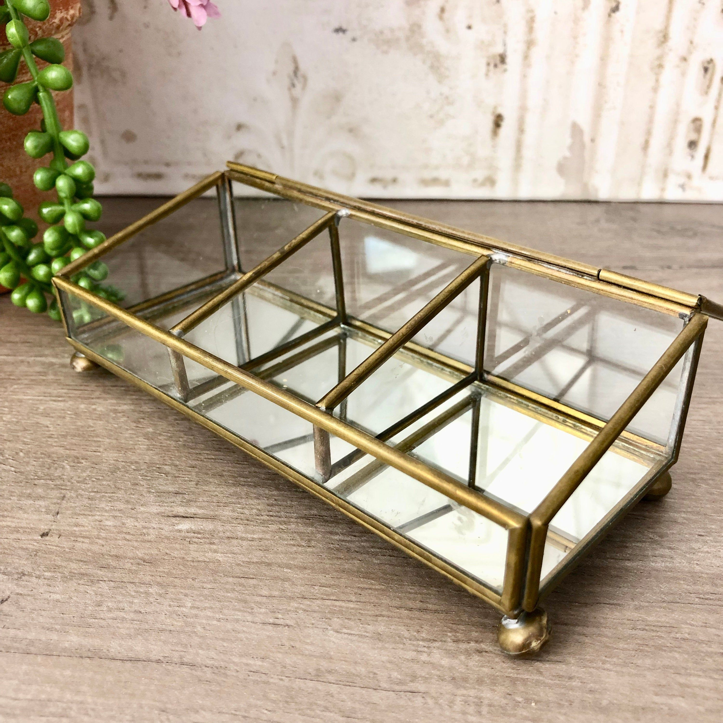 Glass Jewelry Display Etched Glass Display Cabinet Glass Curio Case Table Top Curio Box Hinge With Images Glass Display Case Glass Curio Cabinets Glass Cabinets Display