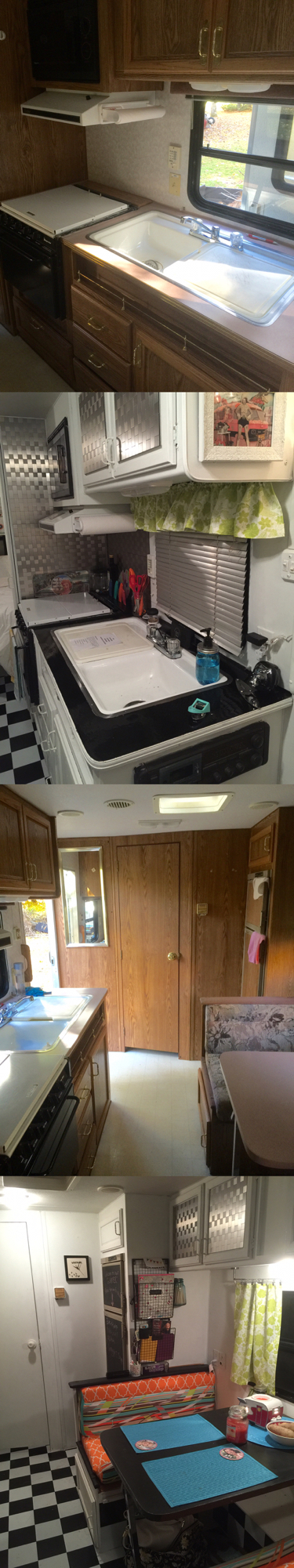 Before And After Of My First Camper Remodel 1996 Wilderness Remodeled Campers Camper Decor Camper Renovation