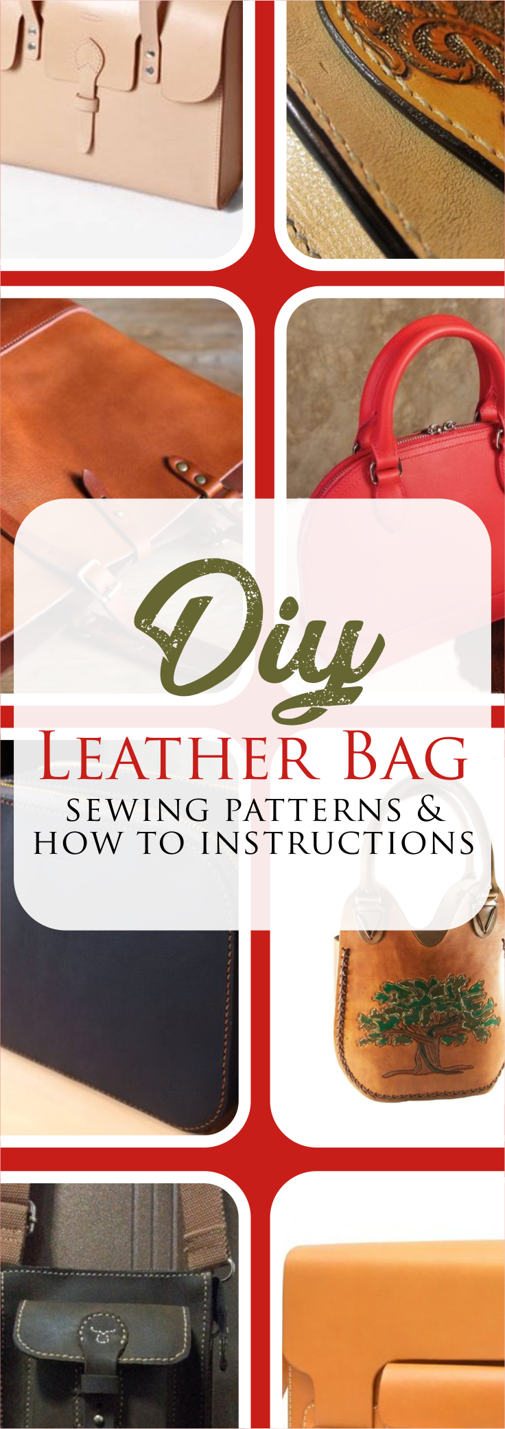 How to Make a Leather Bag #bagpatterns