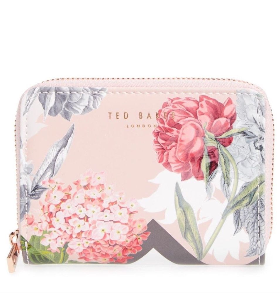 New Ted Baker London Women Place Garden Zip Mini Leather Wallet